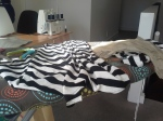 Piecing the stripes
