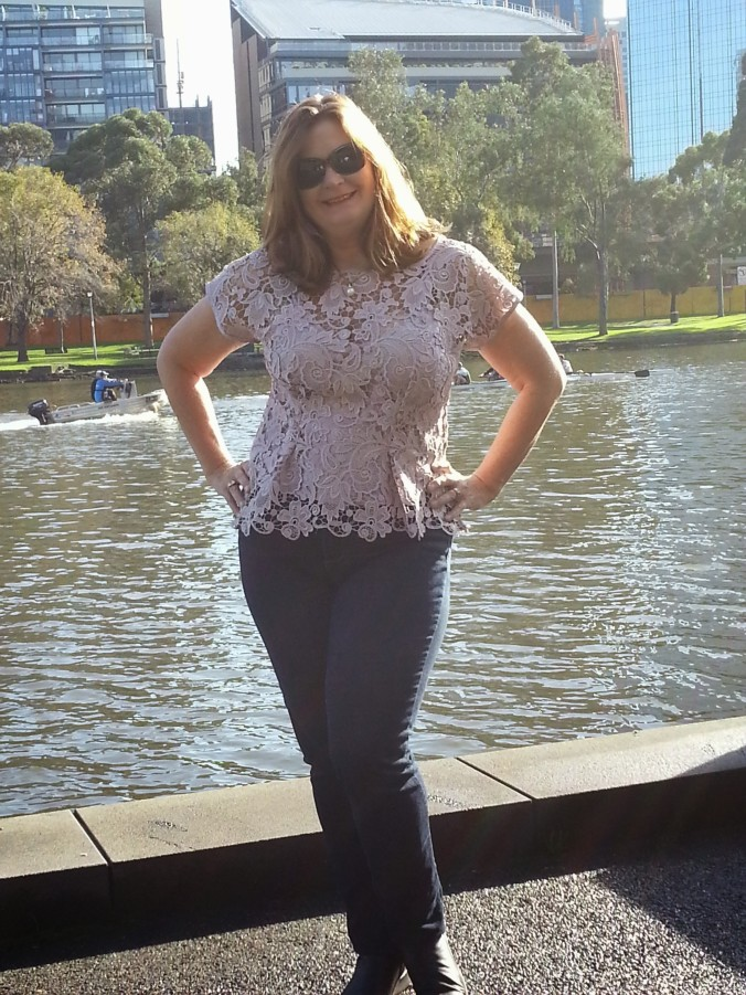 Front view lace anna top
