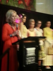 Charlotte Smith introducing the models