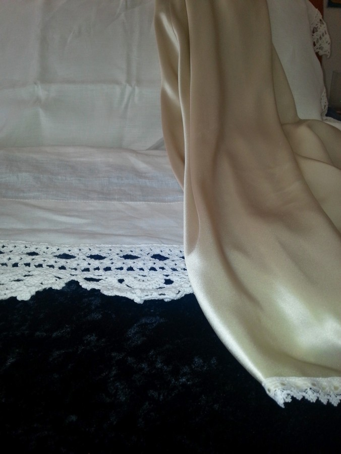 bias cut silk nightie