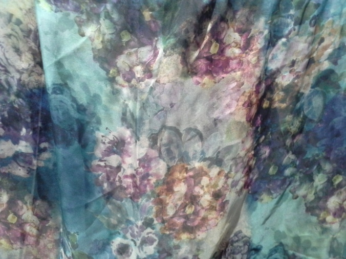 Close up of silk chiffon