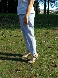 linen Laura pants worn with white linen Anna top