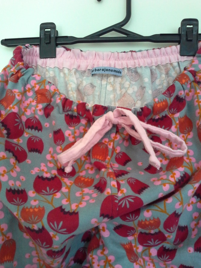 inside waist-band and trouser drawstring in plain pink
