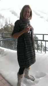 Elisalex dress in the snow