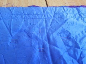 Fork pins and quilting wrong side